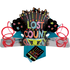 Pop Ups Card Lost Count Happy Birthday