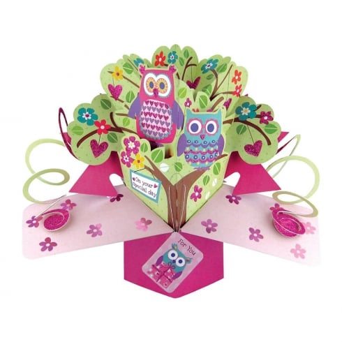 Second Nature Pop Ups Card On Your Special Day