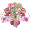 Second Nature Pop Ups Card Pink Happy Birthday