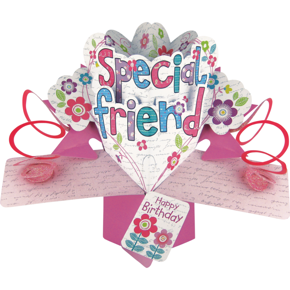Best Friend Birthday Gifts Amazon Co Uk: Special Friend Happy Birthday Pop Ups 3D Card By Second