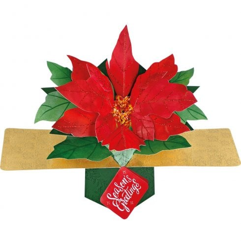 Second Nature Pop Ups Seasons Greetings (Poinsettia)