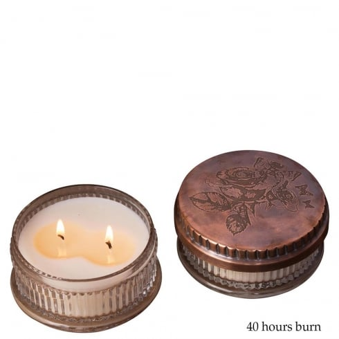 Himalayan Powder Box Rose with Indian sandalwood Fragrance Candle