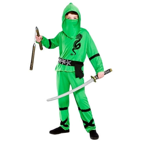 Wicked Costumes Power Ninja - Green (11-13) X Large