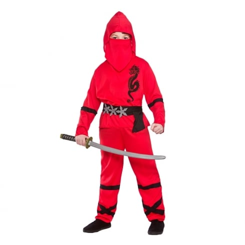 Wicked Costumes Power Ninja - Red (8-10) Large