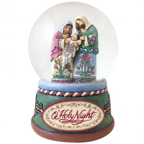 Jim Shore Heartwood Creek Praise the Newborn Savior Holy Family Waterball