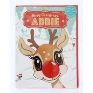 Pre-personalised Christmas Card for Abbie