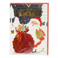 Pre-personalised Christmas Card for Amber