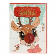 Pre-personalised Christmas Card for Anna