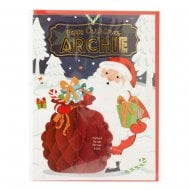 Pre-personalised Christmas Card for Archie