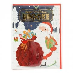 Pre-personalised Christmas Card for Brooke