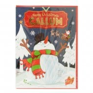Pre-personalised Christmas Card for Callum