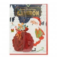 Pre-personalised Christmas Card for Cameron