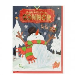 Pre-personalised Christmas Card for Connor