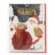 Pre-personalised Christmas Card for Daniel