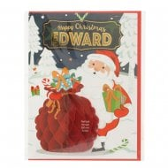 Pre-personalised Christmas Card for Edward