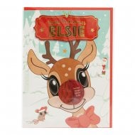 Pre-personalised Christmas Card for Elsie