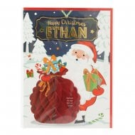 Pre-personalised Christmas Card for Ethan