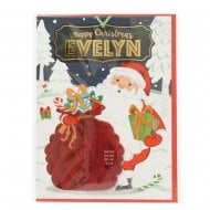 Pre-personalised Christmas Card for Evelyn