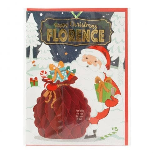 History & Heraldry Pre-personalised Christmas Card for Florence