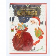 Pre-personalised Christmas Card for George