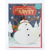 Pre-personalised Christmas Card for Harvey
