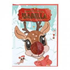Pre-personalised Christmas Card for Isabella