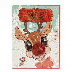 Pre-personalised Christmas Card for Isla