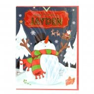 Pre-personalised Christmas Card for Jayden