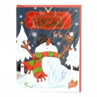 Pre-personalised Christmas Card for Lucas