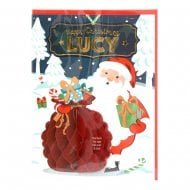 Pre-personalised Christmas Card for Lucy