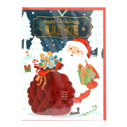 History & Heraldry Pre-personalised Christmas Card for Luke