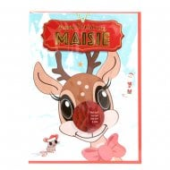 Pre-personalised Christmas Card for Maisie
