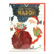 Pre-personalised Christmas Card for Mason