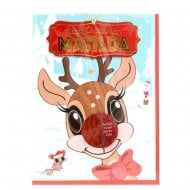 Pre-personalised Christmas Card for Matilda