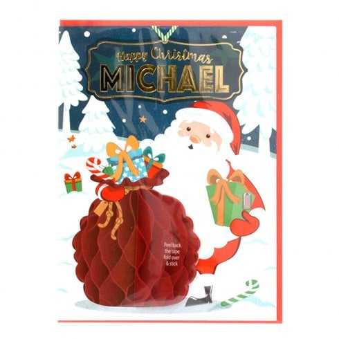 History & Heraldry Pre-personalised Christmas Card for Michael