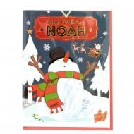 Pre-personalised Christmas Card for Noah