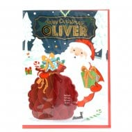 Pre-personalised Christmas Card for Oliver