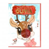 Pre-personalised Christmas Card for Olivia