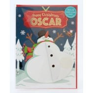 Pre-personalised Christmas Card for Oscar