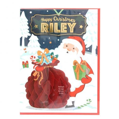 History & Heraldry Pre-personalised Christmas Card for Riley