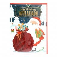 Pre-personalised Christmas Card for William