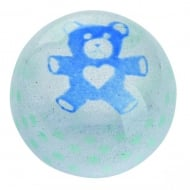 Precious Moments Blue Teddy Paperweight