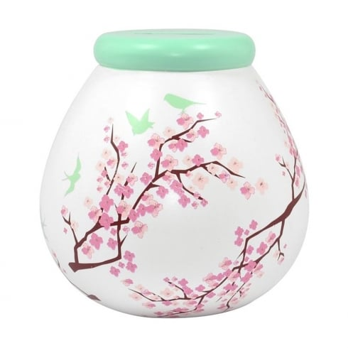 Pot of Dreams Pretty Blossom Ceramic Money Pot