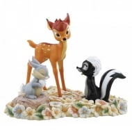 Pretty Flower Bambi Figurine