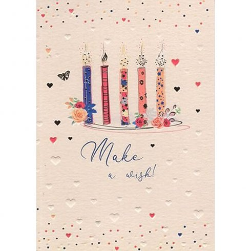 ICG Ltd Pretty in Peach Birthday Card-Candles