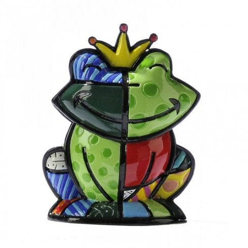 Romero Britto Prince Charming Green Frog Mini Figurine