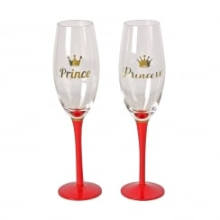 Prince & Princess Set Of 2 Glasses