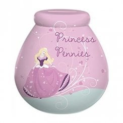 Princess Pennies Ceramic Money Pot