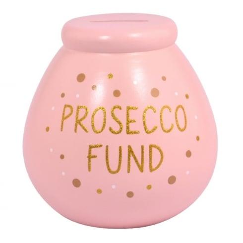 Pot of Dreams Prosecco Fund Ceramic Money Pot