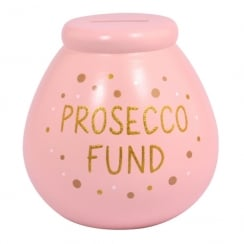 Prosecco Fund Ceramic Money Pot